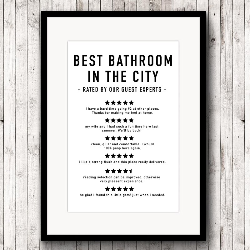 Funny Bathroom Reviews Canvas Bathroom Quotes Prints And Posters Modern Minimalist Wall Art Picture For Living Room Home Decor Nordic Wall Decor
